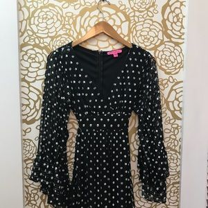 Betsey Johnson Black White Polka Dot Dress